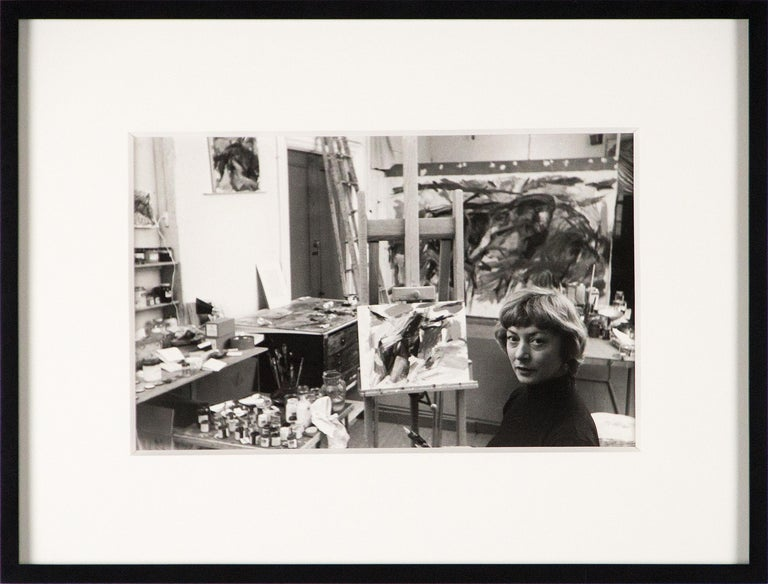 Elaine de Kooning, New York (in Studio) - Photograph by Rudy Burckhardt
