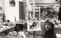 Elaine de Kooning, New York (in Studio)