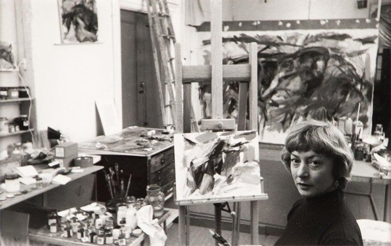 Rudy Burckhardt Portrait Photograph - Elaine de Kooning, New York (in Studio)