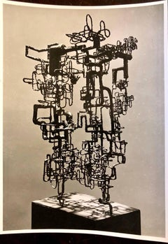 Vintage Silver Gelatin Photo of Ibram Lassaw Modernist Sculpture (Photograph)