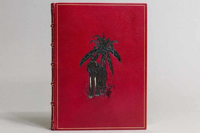 1 volume.   Illustrated by the Author. Bound in full red Morocco with a multicolored onlay on front cover by Bayntun, all edges gilt, raised bands, Gilt panels.   Published: London: MacMillan & Co. 1902. In A Slipcase. First edition.