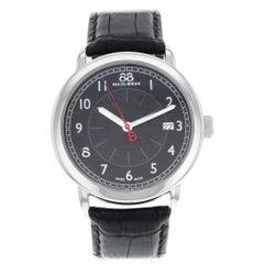 Rue Du Rhone 88 Origin Black Dial Leather Steel Quartz Men's Watch 87WA120030
