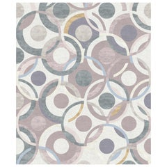 Rue Gabrielle - Patterned Multicolor Hand Knotted Wool Silk Rug