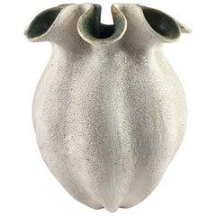 Ruffled Neck Vase by Yumiko Kuga