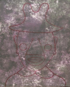 """Cabeza en Gris"", Rufino Tamayo, Figurative Abstraction, Lithograph, 30x22 in."