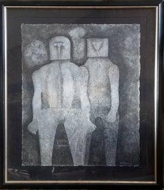 Dos Hermanos, Mixografia by Rufino Tamayo