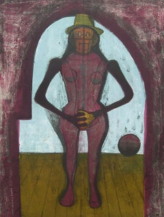 """Femme Au Collant Rose"", Rufino Tamayo, Figurative Abstraction, Etching, 30x22"
