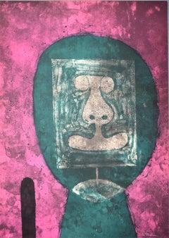 Green Head, from: 15 Lithographs  Cabeza en verde: 15 litografías