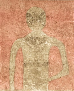 """Hombre Blanco"", Rufino Tamayo, Figurative Abstraction, Lithograph, 30x22 in."