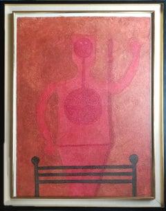 Hombre en Rojo, Mixografia by Rufino Tamayo