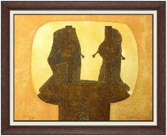 Rufino Tamayo Original Aquatint Hand Signed Authentic Portrait Mixografia Art