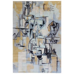 Rug After Pablo Picasso's 'La Paloma Con Guisantes'