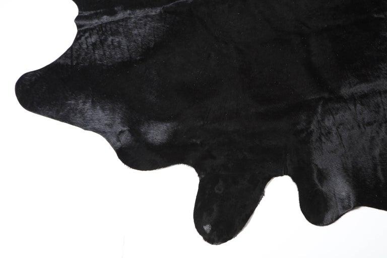 Modern Rug, Cow Hide, Black For Sale