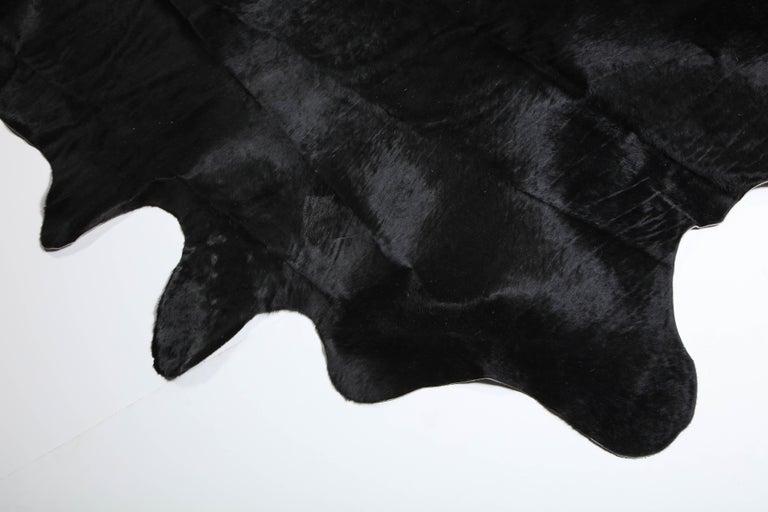 Brazilian Rug, Cow Hide, Black For Sale