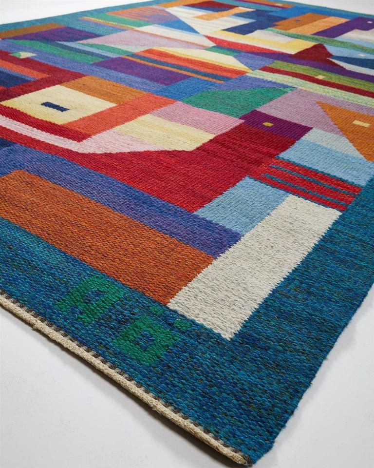 """Swedish Rug """"Dream vision"""" Designed by Agda Österberg, Sweden, 1970s For Sale"""