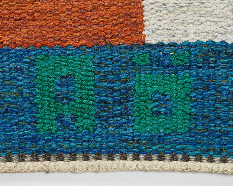 """Late 20th Century Rug """"Dream vision"""" Designed by Agda Österberg, Sweden, 1970s For Sale"""
