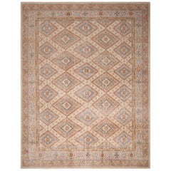 Rug & Kilim's Beige and Blue Wool Rug from the Homage Collection