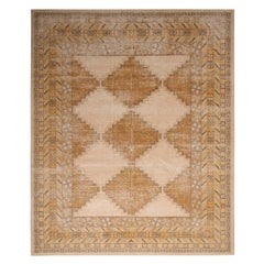 Rug & Kilim's Beige and Gold-Yellow Wool Rug from the Homage Collection