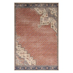 Rug & Kilim's Beige-Blue and Pink Wool Rug from the Homage Collection
