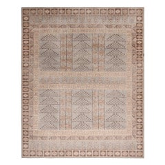 Rug & Kilim's Beige-Brown and Blue Wool Rug from the Homage Collection