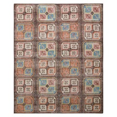 Rug & Kilim's Bokhara Style Distressed Rug in Beige Grown Geometric Pattern