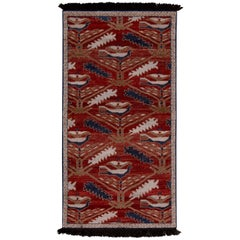 Rug & Kilim's Burano Turkmen Style Beige Brown and Red Wool Custom Runner