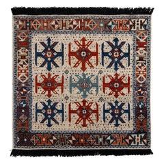 Rug & Kilim's Classic Style Rug in Beige and Red Tribal Geometric Pattern