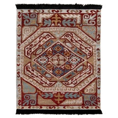 Rug & Kilim's Classic Style Rug in Beige-Brown and Red Tribal Pattern
