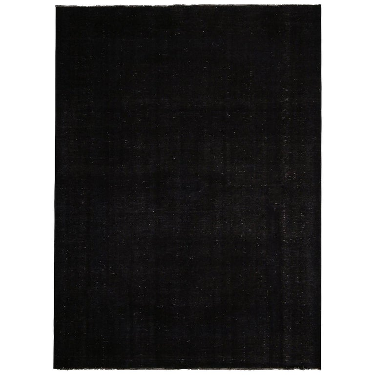 Rug & Kilim's Contemporary Black and White Wool Rug For Sale