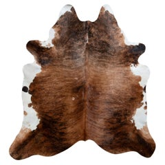 Rug & Kilim's Contemporary Cowhide Rug in Brown and White