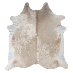 Rug & Kilim's Contemporary Cowhide Rug in White and Rose Gold