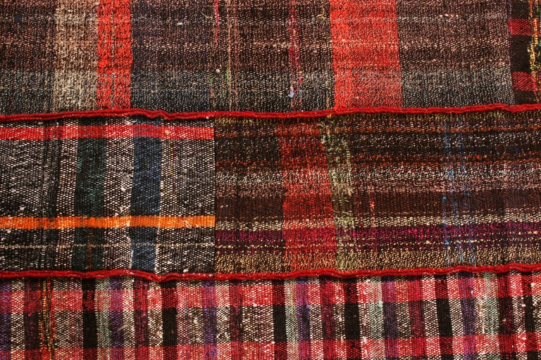 Turkish Rug & Kilim's Contemporary Red and Multi-Color Wool Kilim Rug For Sale