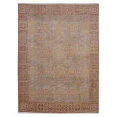 Rug & Kilim's European Style Rug in Beige Brown Geometric Pattern