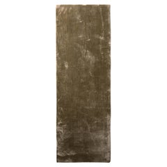Rug & Kilim's Hand-Knotted Modern Rug in Solid Green All Natural Silk