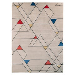 Rug & Kilim's Mid-Century Modern Rug in Gray with Geometric Pattern