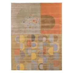 Rug & Kilim's Mid-Century Modern Style Rug in Multicolor All Over Pattern