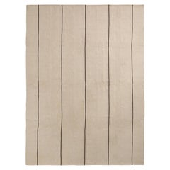 Rug & Kilim's Modern Kilim rug in Beige-Brown Stripe Pattern