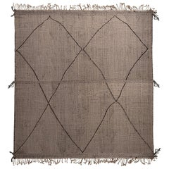 Rug & Kilim's Moroccan Berber Style Geometric White and Black Wool Rug