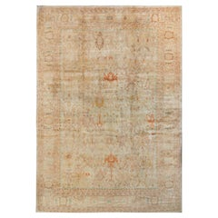 Rug & Kilim's Oushak Style Rug in Beige-Brown with Floral Patterns
