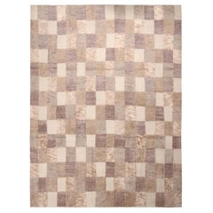 Rug & Kilim's Scandinavian-Inspired Beige Brown and Gray Wool Pile Rug