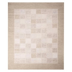 Rug & Kilim's Scandinavian-Inspired Beige Gray and Light Brown Wool Pile Rug