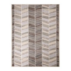 Rug & Kilim's Scandinavian Inspired Brown and Gray Wool Pile Rug