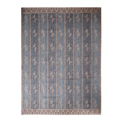 Rug & Kilim's Scandinavian-Inspired Cream Gray & Beige Brown Natural Wool Rug
