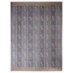 Rug & Kilim's Scandinavian-Inspired Cream Gray & Beige Brown Natural Wool Rug