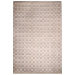 Rug & Kilim's Scandinavian Inspired Geometric Beige-Brown Wool Rug