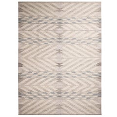 Rug & Kilim's Scandinavian Inspired Gray and Beige Wool Kilim Rug