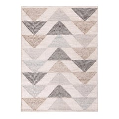 Rug & Kilim's Scandinavian Inspired Moroccan Style Beige and Blue Polyester Rug