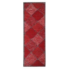 Rug & Kilim's Scandinavian Inspired Moroccan-Style Red and Black Polyester Rug