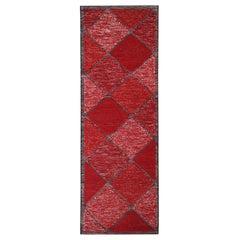 Rug & Kilim's Scandinavian Inspired Moroccan-Style Red & Black Polyester Rug