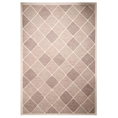 Rug & Kilim's Scandinavian-Inspired Morocco Diamond Beige-Brown Natural Wool Rug